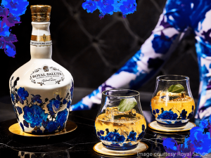 The Royal Salute Couture Collection Richard Quinn Edition. Image courtesy Royal Salute.